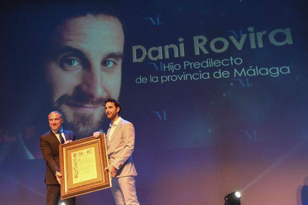 El humorista y actor Dani Rovira durante un acto como hijo predilecto en el auditorio Edgar Neville en