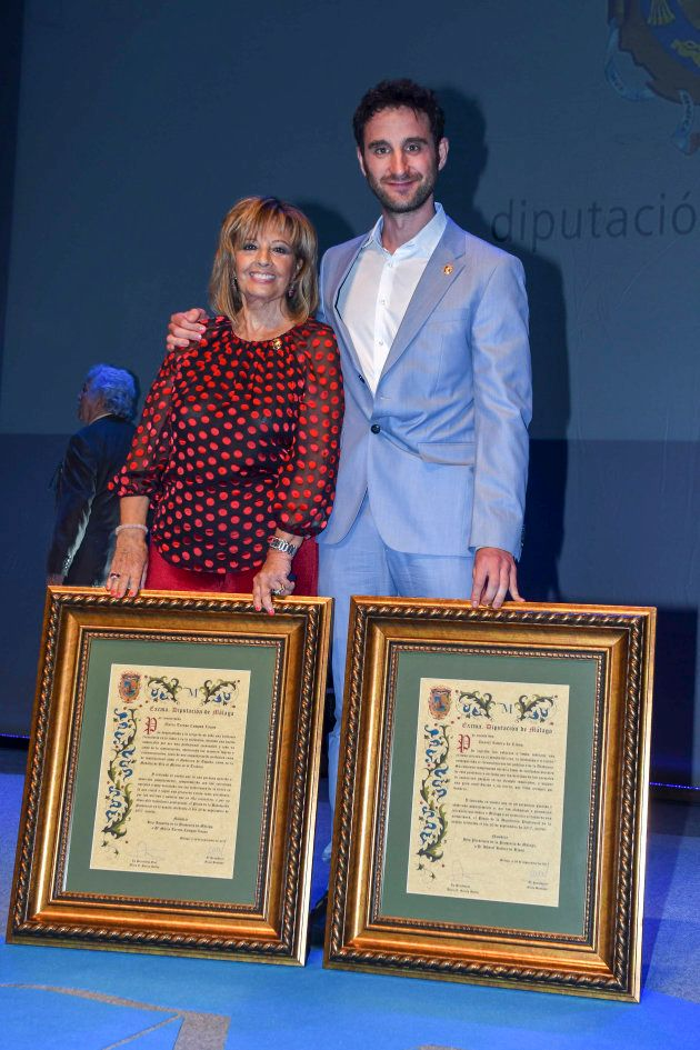 La periodista María Teresa Campos y el humorista y actor Dani Rovira durante un acto como hija adoptiva...