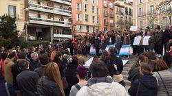 Unas 200 personas se manifiestan en Madrid contra la campaña transfóbica de Hazte