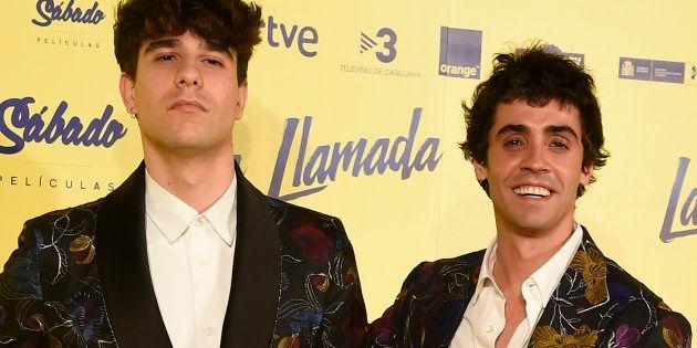 Javier Calvo y Javier Ambrossi, durante el estreno de la película 'La Llamada' en