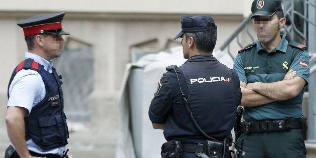 Representantes de los tres cuerpos de seguridad del Estado que actúan en