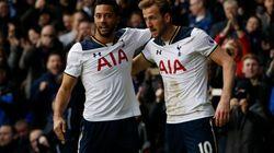La celebración de estos jugadores del Tottenham que firmaría 'El Príncipe de