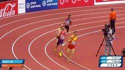 El español Adel Mechaal, campeón de Europa en los 3.000 metros en pista