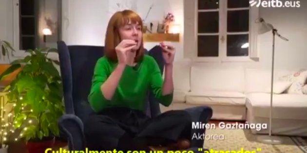 Miren Gaztañaga durante el programa 'Euskalduna naiz, eta