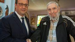 Hollande, con Fidel: