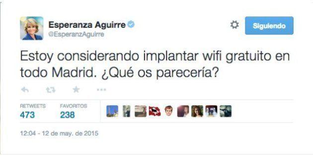 Aguirre y el wifi gratis: bromas y críticas tras su mensaje