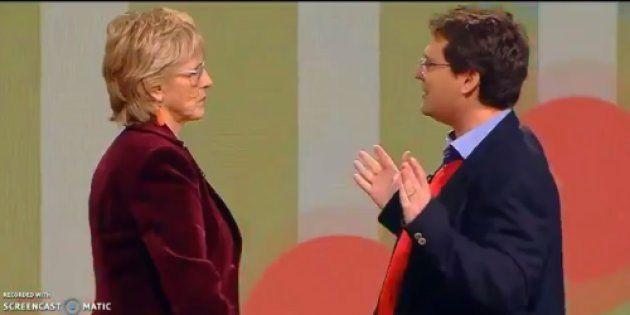 Mercedes Milá y José Miguel Mulet durante el programa 'Chester in love', de