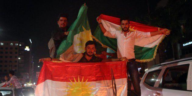 Kurdos celebran el referéndum de independencia de Kurdistán en