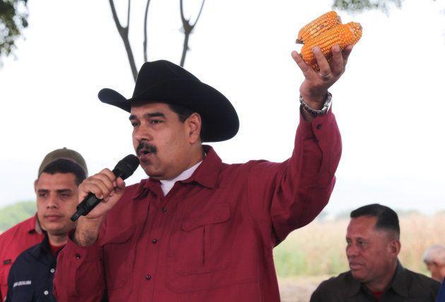 El presidente venezolano, durante el acto televisado de