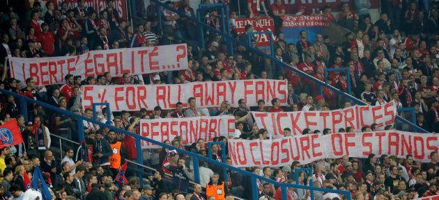 Los aficionados del Bayern de Múnich, molestos con el precio de las entradas ante el