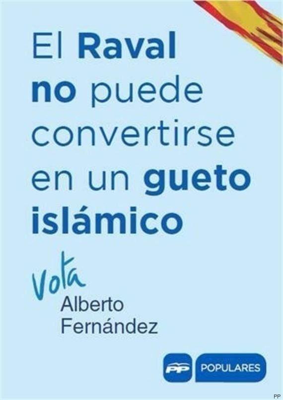 El PP reparte folletos en el Raval de Barcelona para evitar