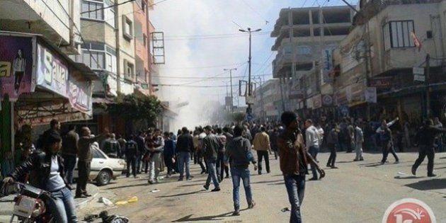 Al menos 70 palestinos heridos por la explosión de una bomba israelí sin detonar en