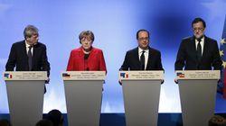 Alemania, Francia, Italia y España abogan por una UE a varias
