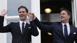 Primer ministro y marido. De un hombre. En