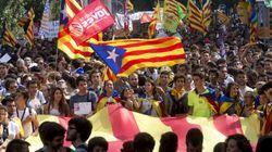 Multitudinaria manifestación estudiantil en Barcelona a favor del