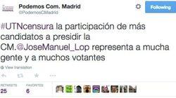 Podemos acusa a Telecinco de censurar a su candidato a la Comunidad de