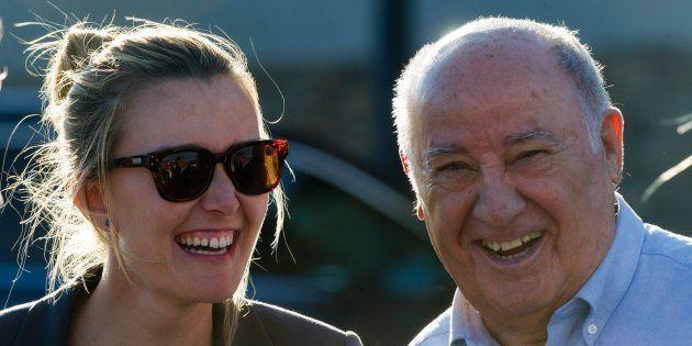 Marta Ortega, junto a su padre, Amancio Ortega, propietario de Inditex y la mayor fortuna de