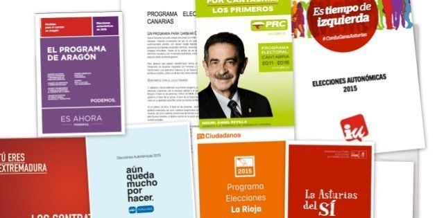 Programas electorales para las elecciones autonómicas de