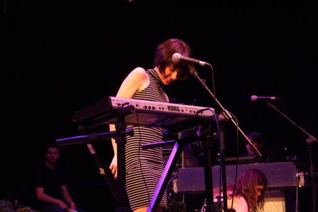 Paula JJ, cantante de Las Odio, durante una