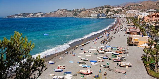 AKK1TY san cristobal or china beach almunecar tropical coast Granada Andalusia