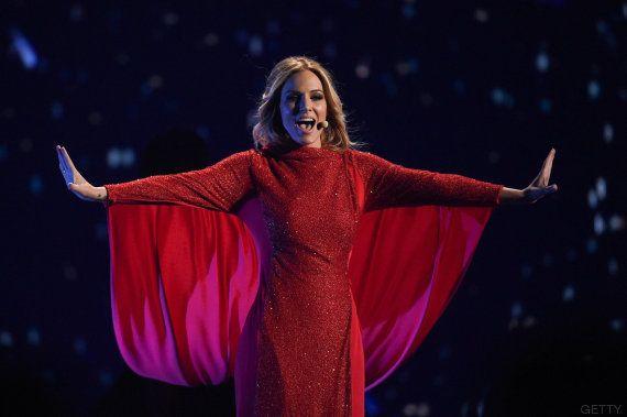 El truco del vestido de Edurne: así cambia de vestuario en el ensayo de