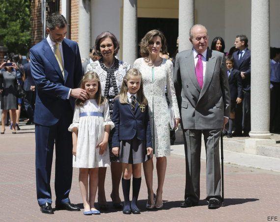 La Familia Real reaparece al completo en la Primera Comunión de Leonor