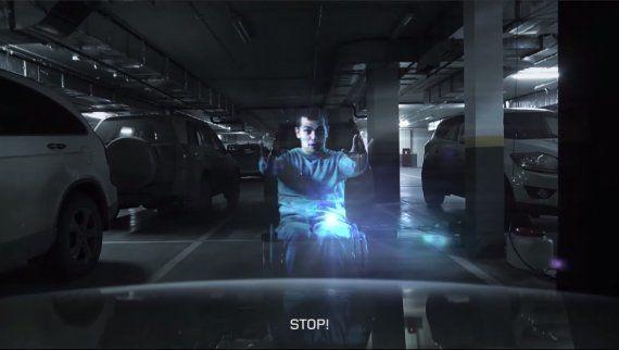 Los aparcamientos para discapacitados, protegidos gracias a un holograma que