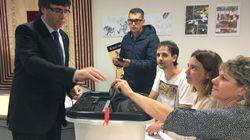 El periplo de Puigdemont y Junqueras para votar en el referéndum ilegal del