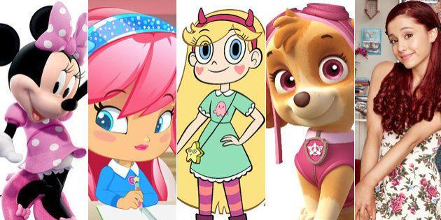 Personajes de series infantiles. De izquierda a derecha: Minnie (La casa de Mickey Mouse), Michelle ('Piny...
