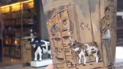¿Qué hay mejor que un dibujo sobre la espuma del café? Un dibujo panorámico en el
