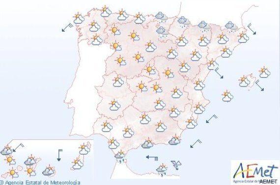 Los españoles elegirán a sus representantes con viento en el litoral y lluvias en Cantábrico y