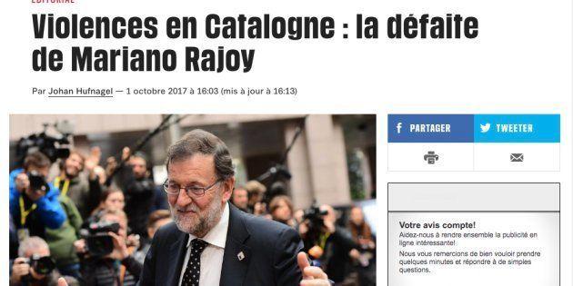 El durísimo editorial de 'Libération' contra Rajoy por