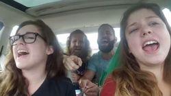 Se las prometían muy felices cantando en el coche hasta