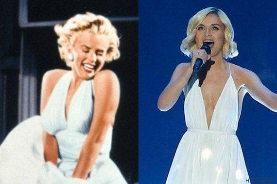 Bromas y parecidos de Eurovisión 2015: la capa de Edurne, Marilyn Monroe rusa y la 'Brave'