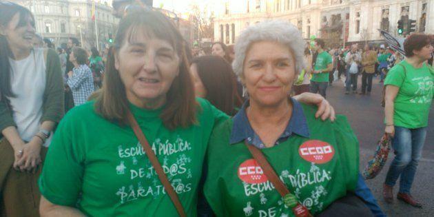 Salu y Dolores en la huelga