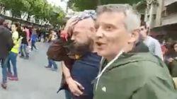 Este vídeo enloquece Twitter por lo que le sucede a estos hombres (uno de ellos herido) con la