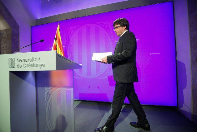 El presidente catalán Carles