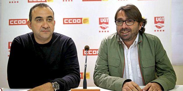 Javier Pacheco y Camil Ros, en una rueda de prensa