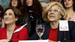 Colau, Carmena, dos mujeres y un