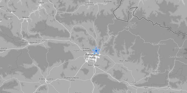 Localización del seísmo, según el