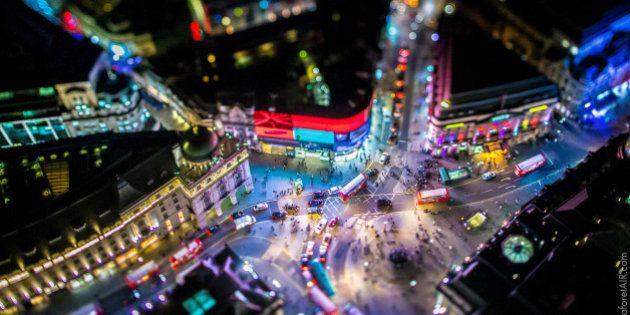 Parece una maqueta, pero es Londres desde el aire