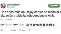 El irónico tuit sobre la gestión de Rajoy y la independencia de Ávila que arrasa en