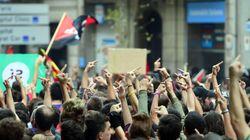Unas 2.000 personas se concentran ante la sede del PP