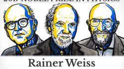 Rainer Weiss, Barry C. Barish y Kip S. Thorne, Premios Nobel de Física