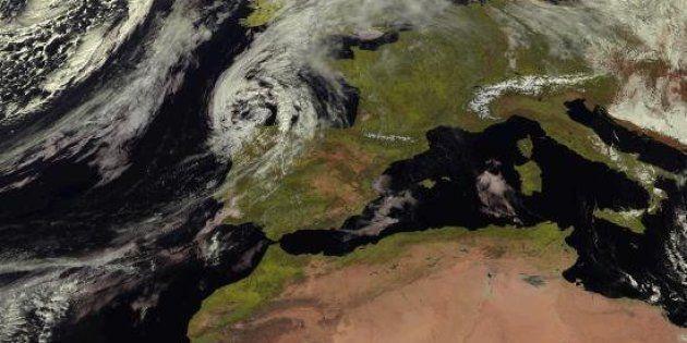Fotografía del satélite Meteosat para la Agencia Estatal de
