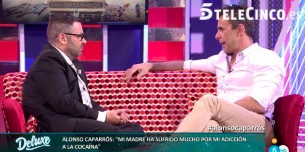 Alonso Caparrós y Jorge Javier Vázquez durante la entrevista en 'Sálvame