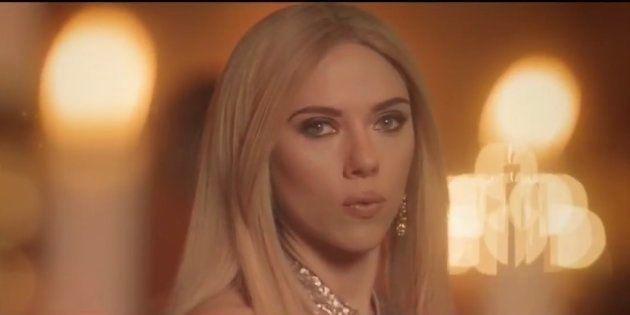 La actriz Scarlett Johansson durante el sketch en 'Saturday Night