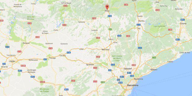 Situación de Berga, un pequeño municipio de la provincia de