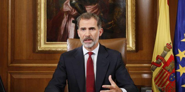 El rey Felipe VI dirige un mensaje a los españoles tras el referéndum ilegal en