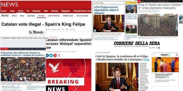 Así ha visto la prensa internacional el discurso del rey
